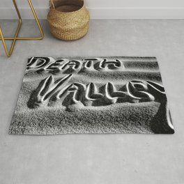 Death Valley - Black and White Rug