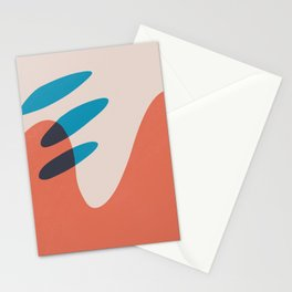 Aliens Passing on a Dead Planet Stationery Cards