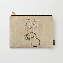 To a Mouse - Robert Burns - Mice and Men Carry-All Pouch