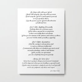 The four Agreements 14 Metal Print