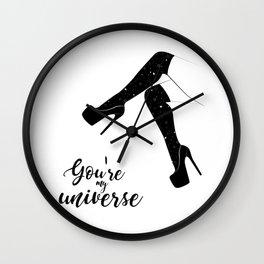 My universe heels Wall Clock