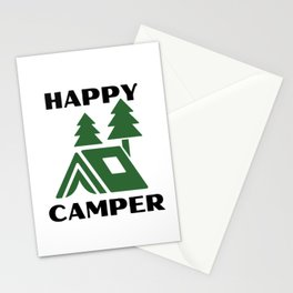 Happy Camper For Light Background Stationery Cards