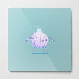 Smelly Onion Metal Print