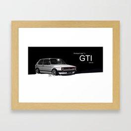 Golf GTI mk1 Framed Art Print