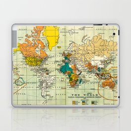 Map of the old world Laptop & iPad Skin