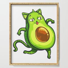 Avogato Avocados Cat Avocato Kitty Lover Cute Gift Serving Tray