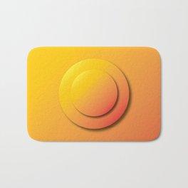 Ripe Orange Button - Gradient Bullet Point Bath Mat