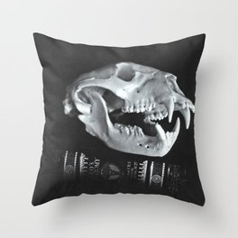 Bear Skull Still Life Throw Pillow