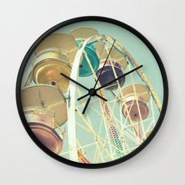 Pastel Ferris Wheel Wall Clock
