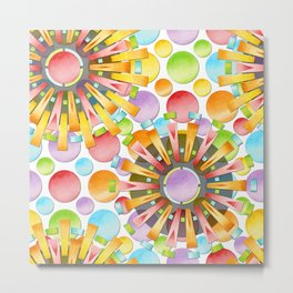 Birthday Party Polka Dots Metal Print