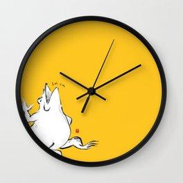 Gold Frog-LOL! Wall Clock