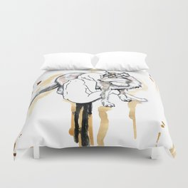 The Girl And The Wolf Duvet Cover