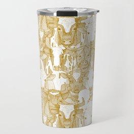 just ox gold white Travel Mug