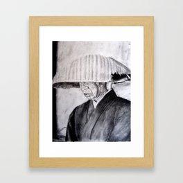 Japanese Beggar Origina Printl by Luciana Da Silva Framed Art Print
