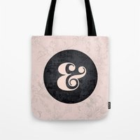 ampersand Tote Bags featuring ampersand by StudioAmpersand