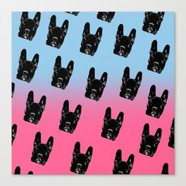 Asia (blue&pink pattern) Canvas Print