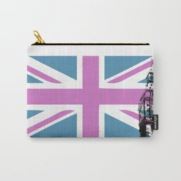 Union Jack with Big Ben - Pink and Purple Carry-All Pouch