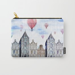 Amsterdam  watercolor Carry-All Pouch