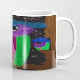 The Prismatic Crested Owl Coffee Mug