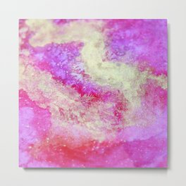 Touch of Gold_Rose Metal Print