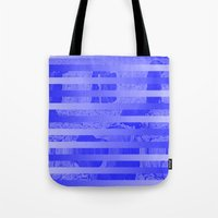 glitch Tote Bags featuring Glitch by Claire Balderston