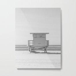 lifeguard stand b&w Metal Print