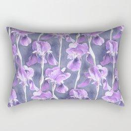 Simple Iris Pattern in Pastel Purple Rectangular Pillow
