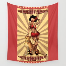 The Tattooed Woman Wall Tapestry