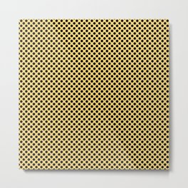 Lemon Drop and Black Polka Dots Metal Print