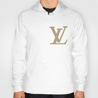 lv Hoodies featuring Side LV by Goldflakes