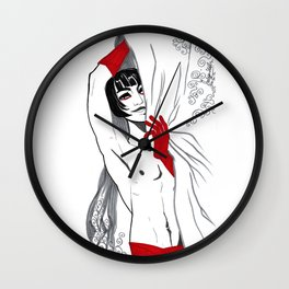 Noreat in Red Wall Clock