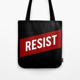 RESIST red white bold anti Trump Tote Bag