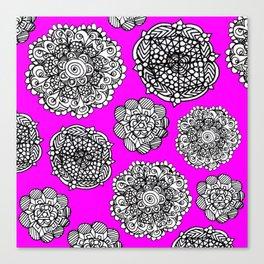 Fushia mandala maze  Canvas Print