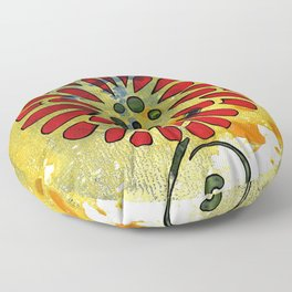 Abstract Acrylic Painting SPRING II Floor Pillow