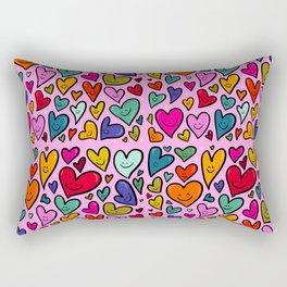 Smiling Heart Print Rectangular Pillow