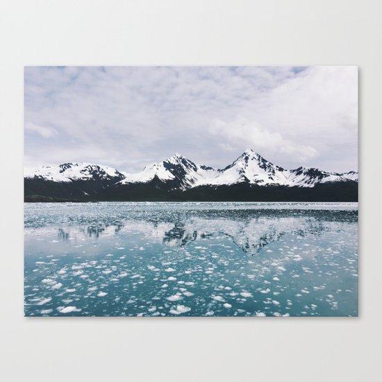 Icy Kenai reflection Canvas Print
