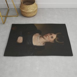 Alfred Jacob Miller - Portrait of Lydia Lloyd Murray Rug