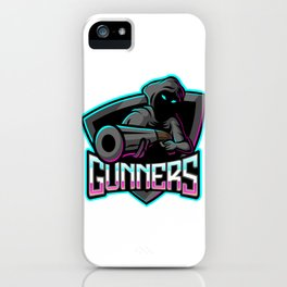 Gunners Esport Mascot Logo Design iPhone Case