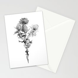 Glitch thistle Stationery Cards