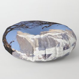 Fitz Roy Mountain Landscape (Patagonia, South America) Floor Pillow