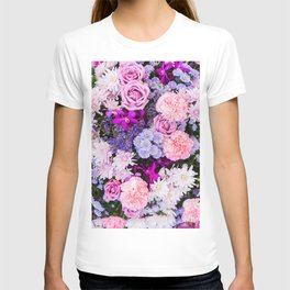 Pink Purple Flowers x Ultraviolet T-shirt