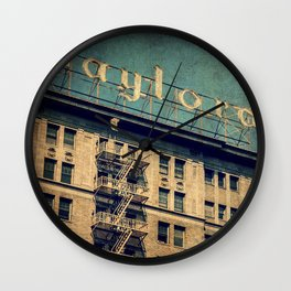 1924 Gaylord Apartments Vintage Neon Sign  Wall Clock