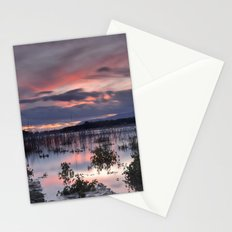 Last light. Sunset at the lake Stationery Cards