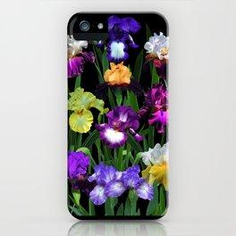 Iris Garden - on black iPhone Case
