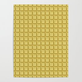 Just white chocolate / 3D render of white chocolate Poster