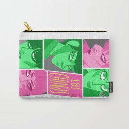 Las chinas rosa y gris Carry-All Pouch