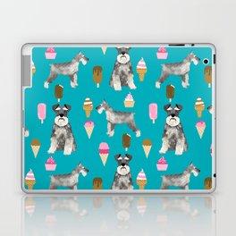 schnauzer ice cream dog breed pet pattern dog mom Laptop & iPad Skin