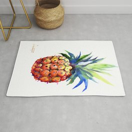 Pineapple, pina-colada, pineapple kitchen tropical design Rug