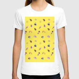 sugar sweet desserts print T-shirt