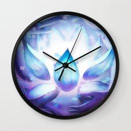 Pixel Lotus Wall Clock